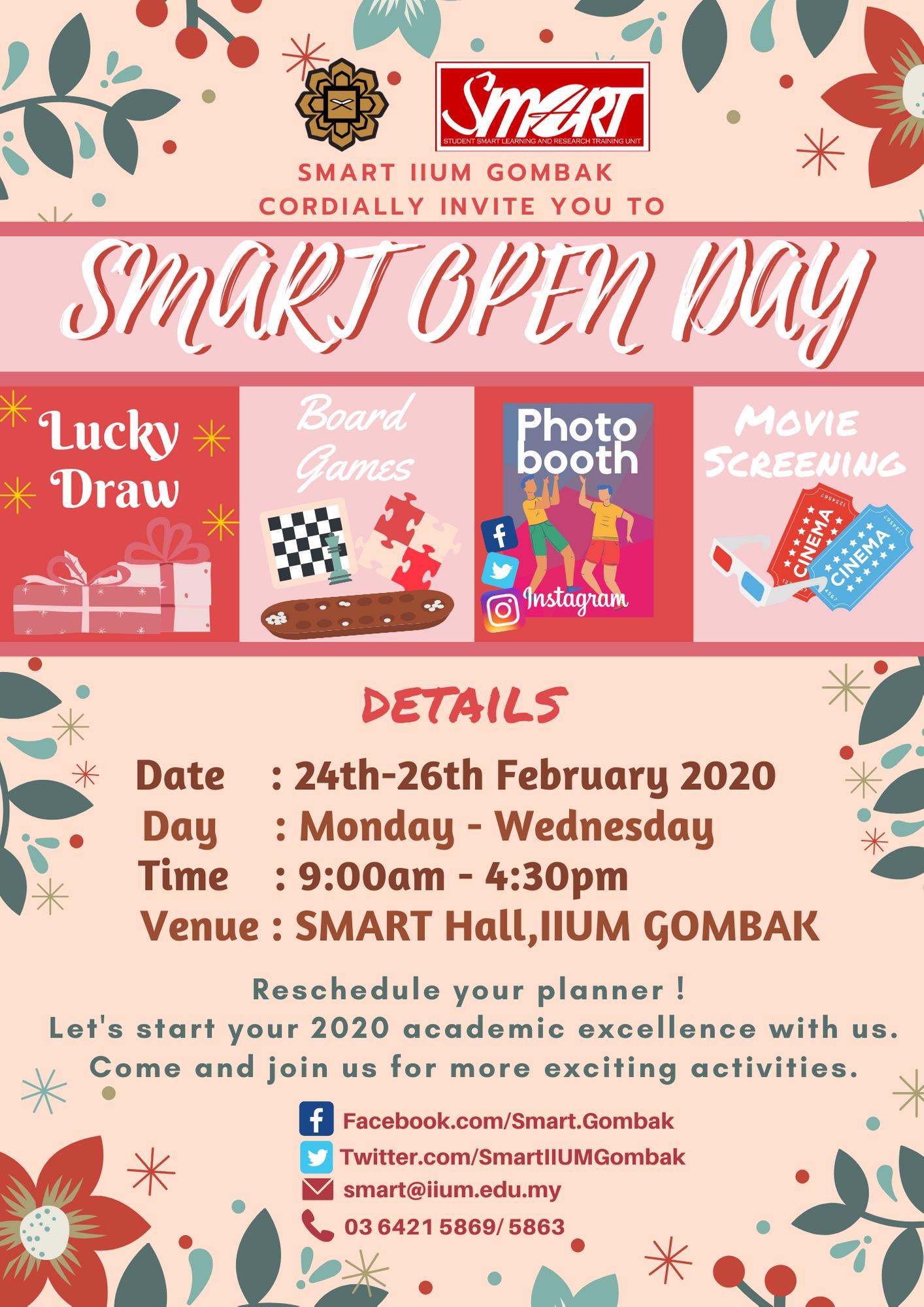 OPEN DAY SMART SEM 2, 2019/2020