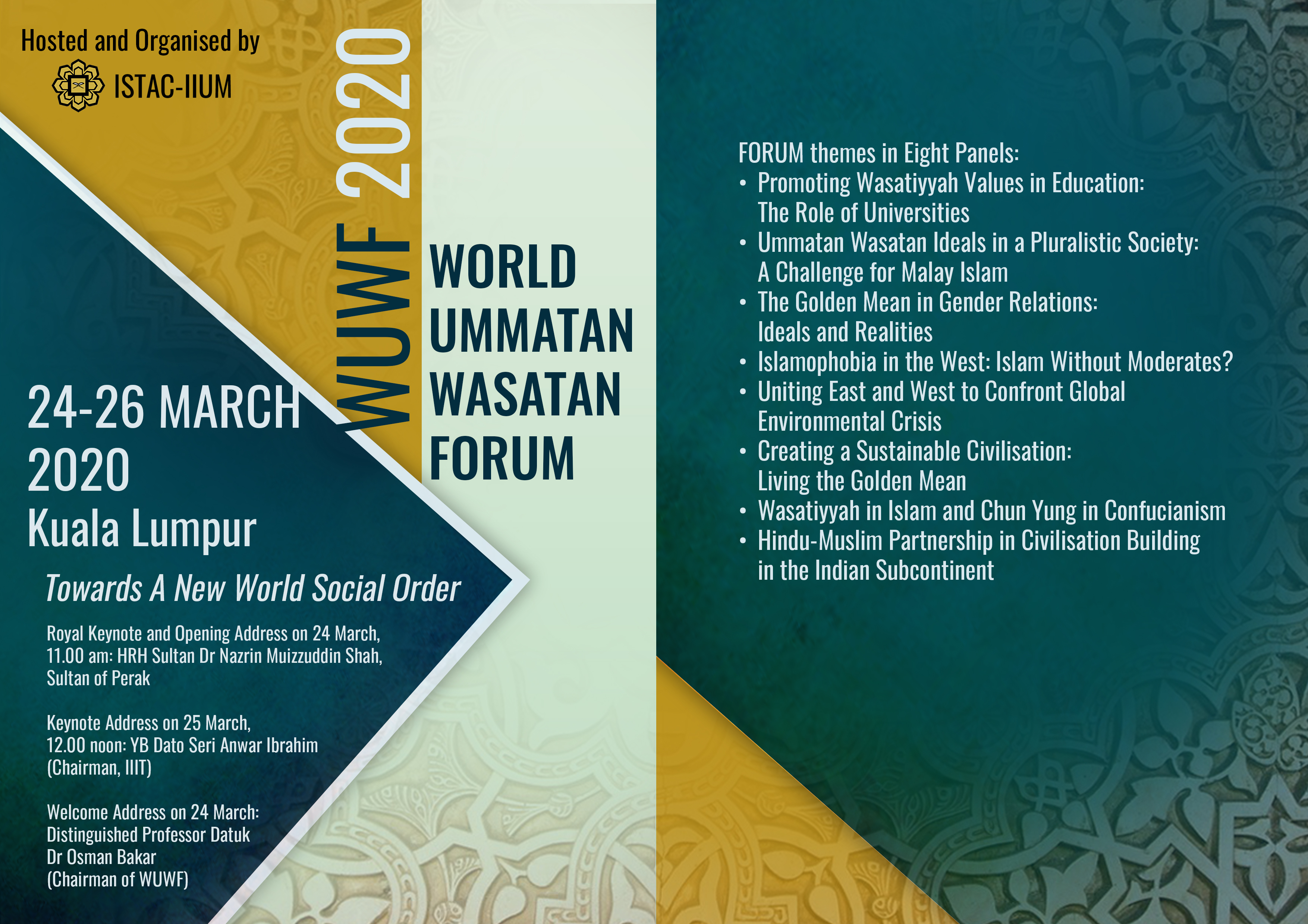 WORLD UMMATAN WASATAN FORUM 2020