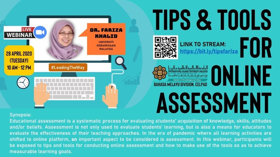 Webinar: Tips & Tools for Online Assessment